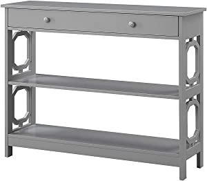 Convenience Concepts Omega 1 Drawer Console Table, Gray