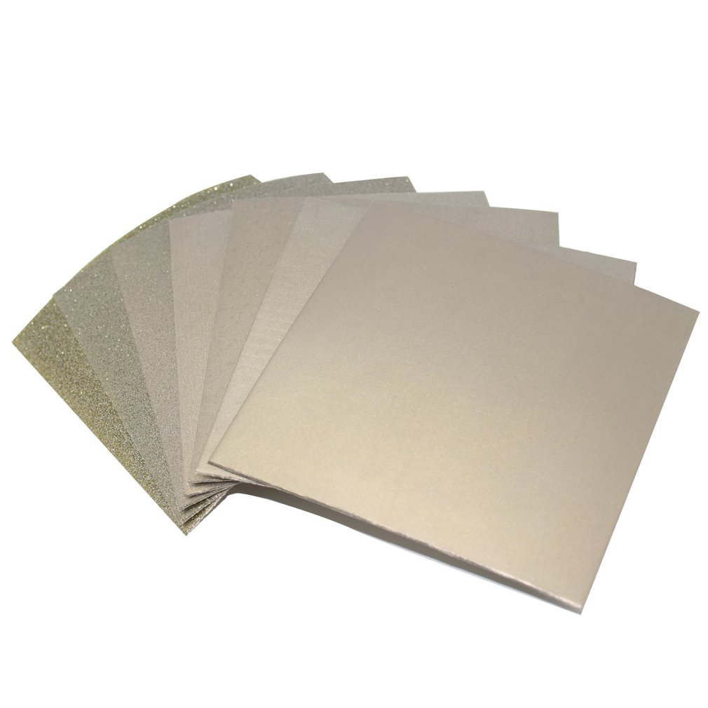 Insung Diamond Flexible Sheet Sandpaper ALL Type 7Set_100x100mm (60/100/200/400/800/1500/3000Grit)