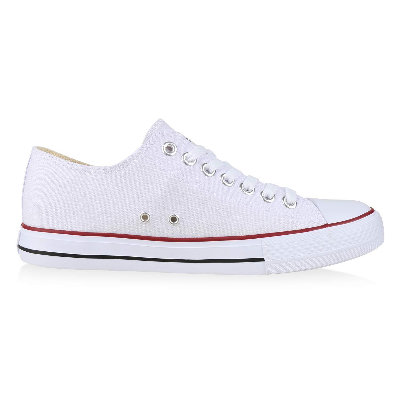 SCARPE VITA Unisex Damen Herren Rot Sneaker Low Übergrößen Weißs Rot Herren bd0096