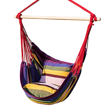 Prime Garden Hanging Rope Hammock Chair Porch Swing Seat For Indoor Or  Outdoor Spaces  Max