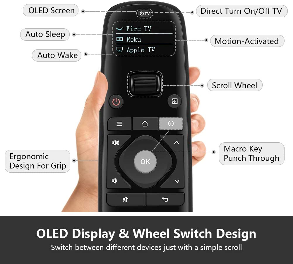 SofaBaton U1 - Mando a distancia con pantalla OLED y aplicación ...