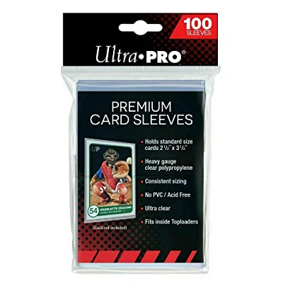 500 Ultra Pro Premium Soft Penney Sleeves Compatible with Standard Sized Topps, Panini and Upper Deck Sports Cards: Toys & Games