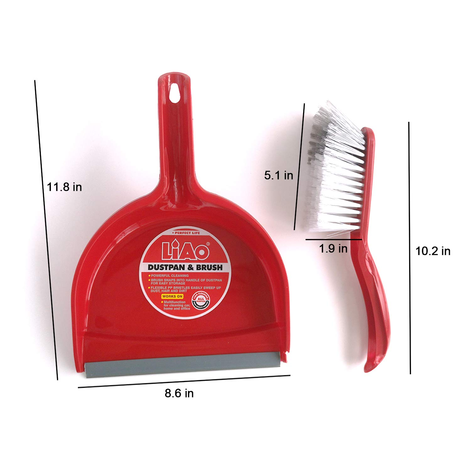 Red 1 Count Dustpan and Brush Set Topgalaxy.Z DustPan and Broom Set//Dust pan Cleans Broom Combo For Home Kitchen Room Office
