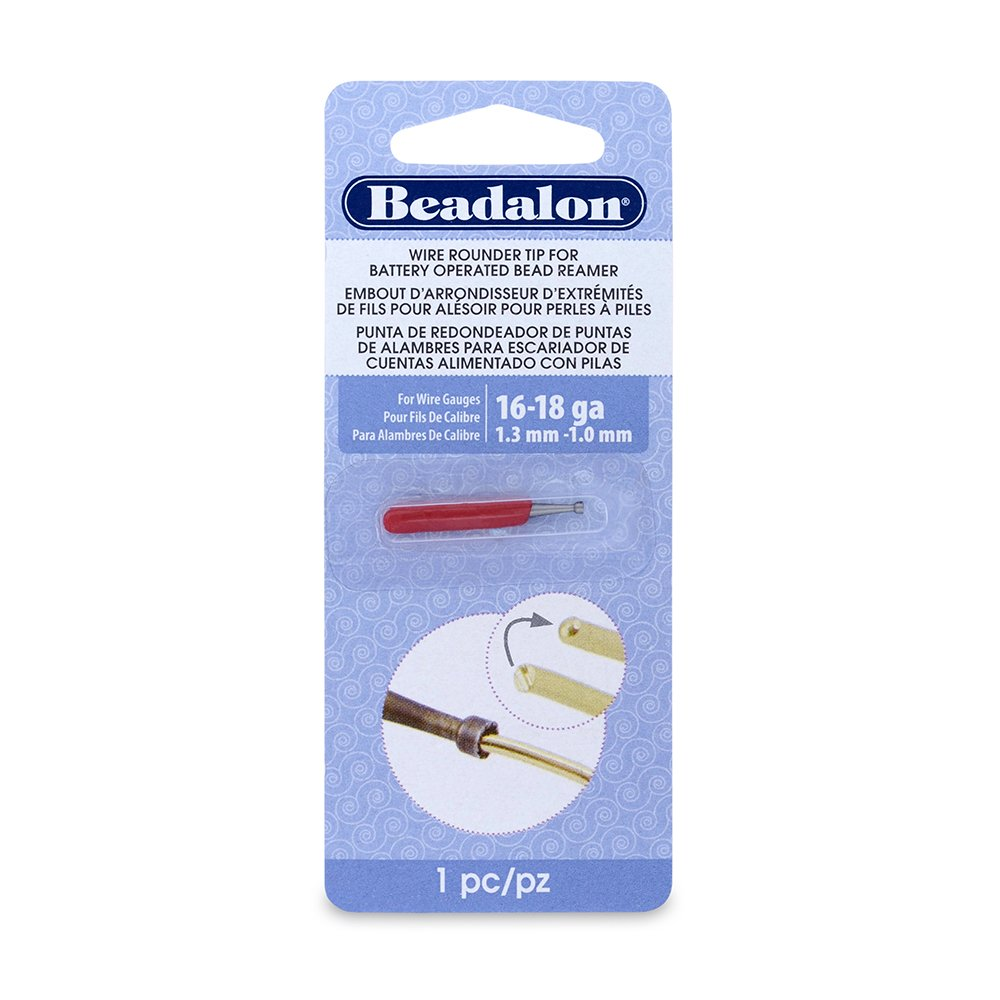 Beadalon Wire Rounder Burr Attachment Use with Battery Operated Bead Reamer and 16, 18 and Smaller Gauge Wires 208F-004