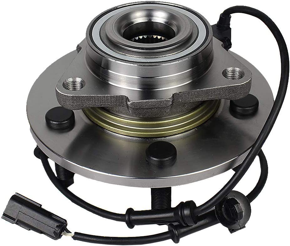 2-Pack 5 Lug w//ABS Front Wheel Bearing Hub Assembly Compatible with 2002 2003 2004 2005 Dodge Ram 1500 Autoround 515073