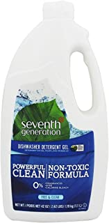 product image for Seventh Generation Free & Clear Scent Gel Dishwasher Detergent 42 oz.