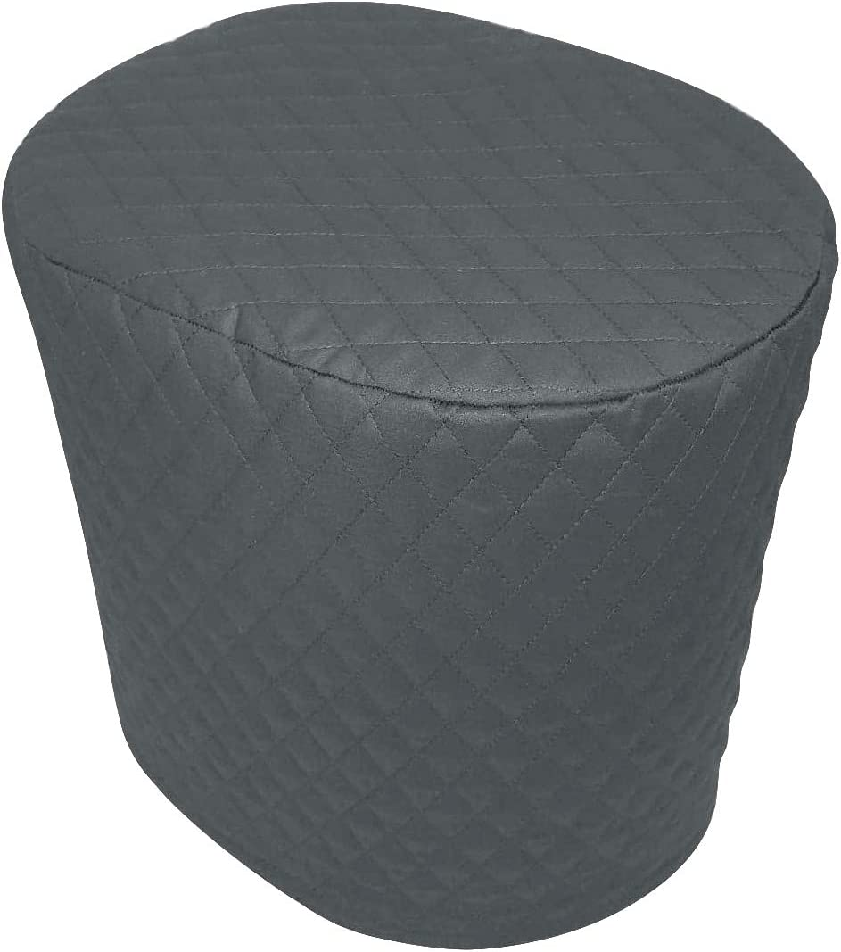 """Coffee Maker Cover, 8""""x11""""x13"""" Quilted 2–ply Cotton Fabric Small Appliance Parts Cover for Kitchen & Dining TFC408 (grey)"""