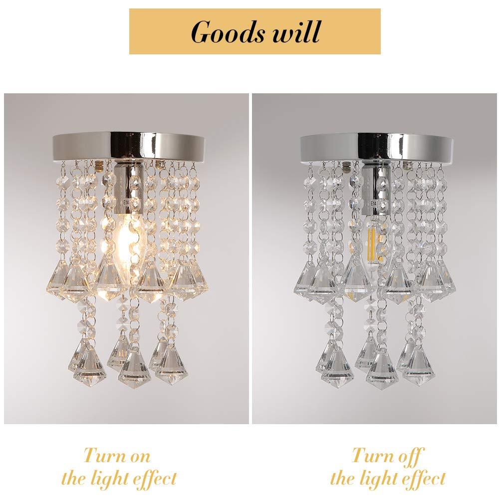 Iluminación de interior 1life Colgante de Cristal de Luz Corte de ...