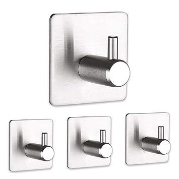 Amazon.com: SHENCAI - Ganchos adhesivos de acero inoxidable ...