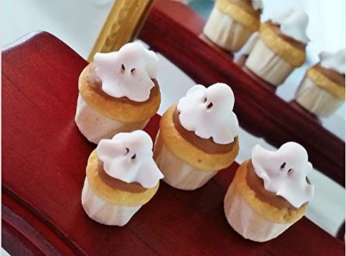 1:12 Halloween miniature muffins ghosts