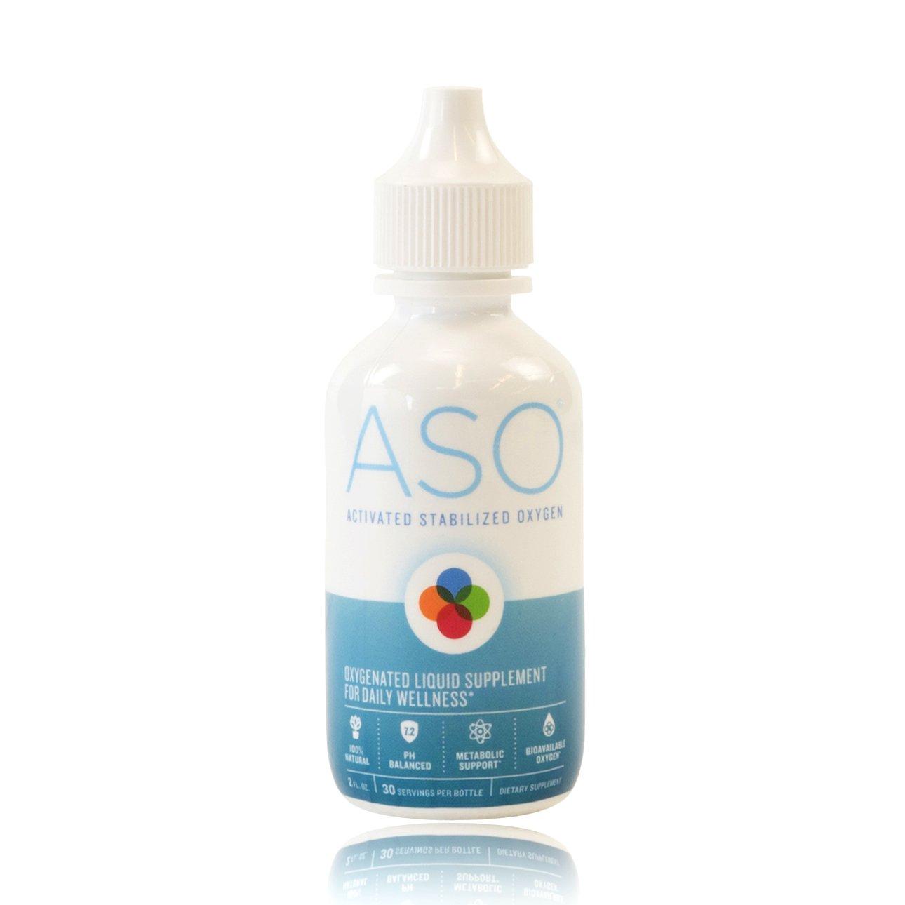 ASO 35% 350,000ppm ACTIVATED STABILIZED LIQUID OXYGEN 2 OZ Bio-Available Oxygen-Enhanced Formula