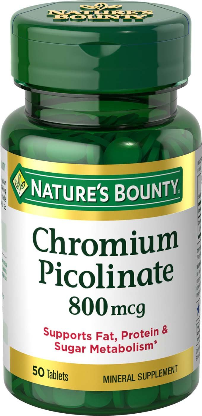 Nature's Bounty Mega Chromium Picolinate 800 mcg tablets 50 ea
