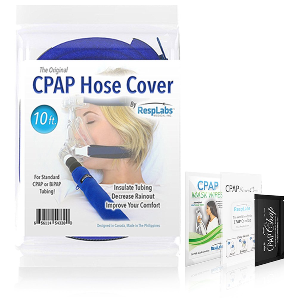 CPAP Hose Cover Tube Wrap — [10 Foot] Fleece Tubing Comfort w/Zipper, Perfect-Fit Plus Inclusions | CPAP Machine, Masks & Equipment Supplies RespLabs