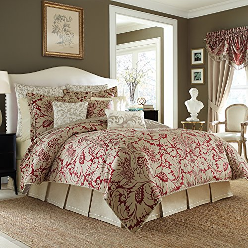 Croscill Avery Comforter Set, King, Red