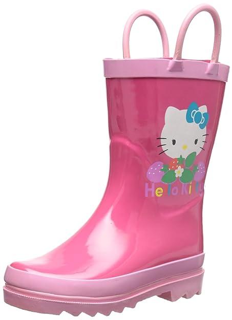 b6fd1dbd1 SANRIO Hello Kitty Girl's Pink Rain Boots (Toddler/Little Kid) (4 M