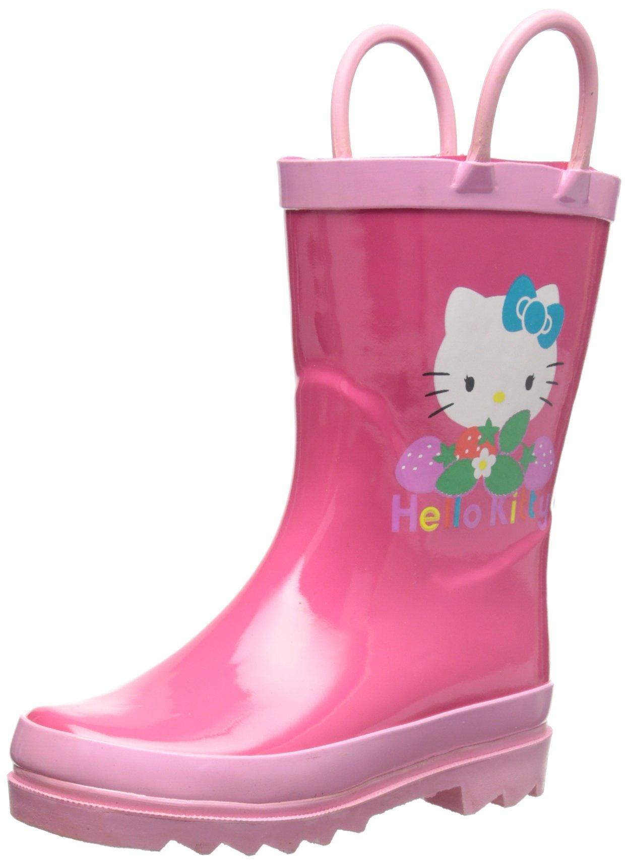 Sanrio Hello Kitty Girl's Pink Rain Boots (Toddler/Little Kid) (9 M US Toddler)
