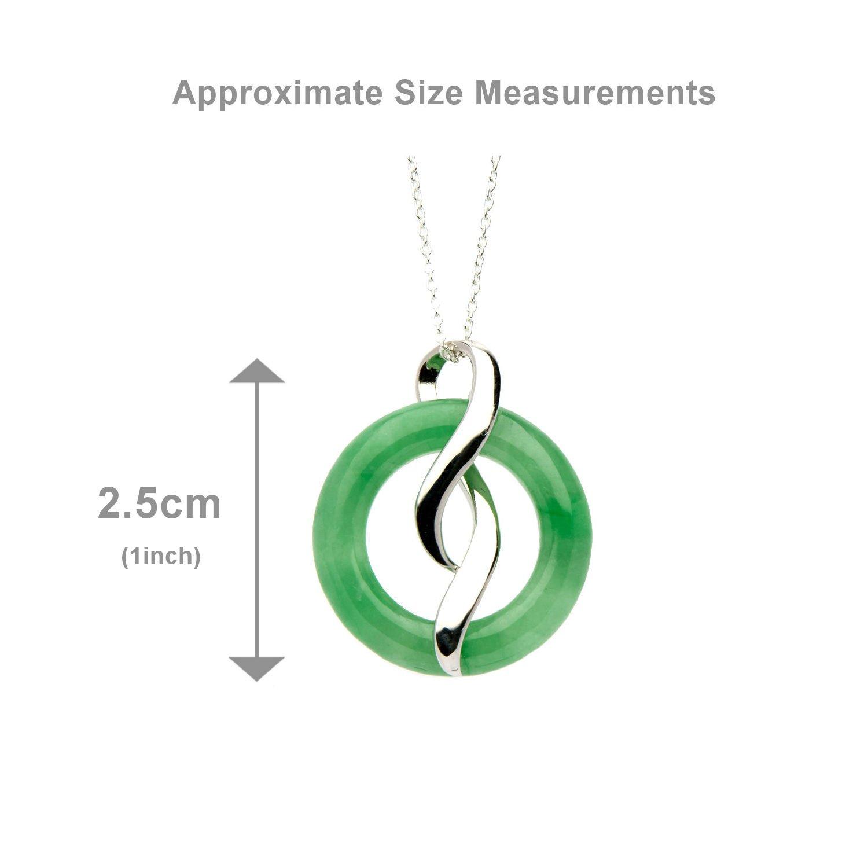 Anderson & Webb Oriental Green Jade Drop Pendant iX6dHLS6
