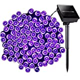 8 Modes Solar String Light, Satu Brown 72ft 200 LED Fairy Waterproof Outdoor Decorative Lights for Home, Garden, Patio, Yard, Christmas Tree, Parties (purple)