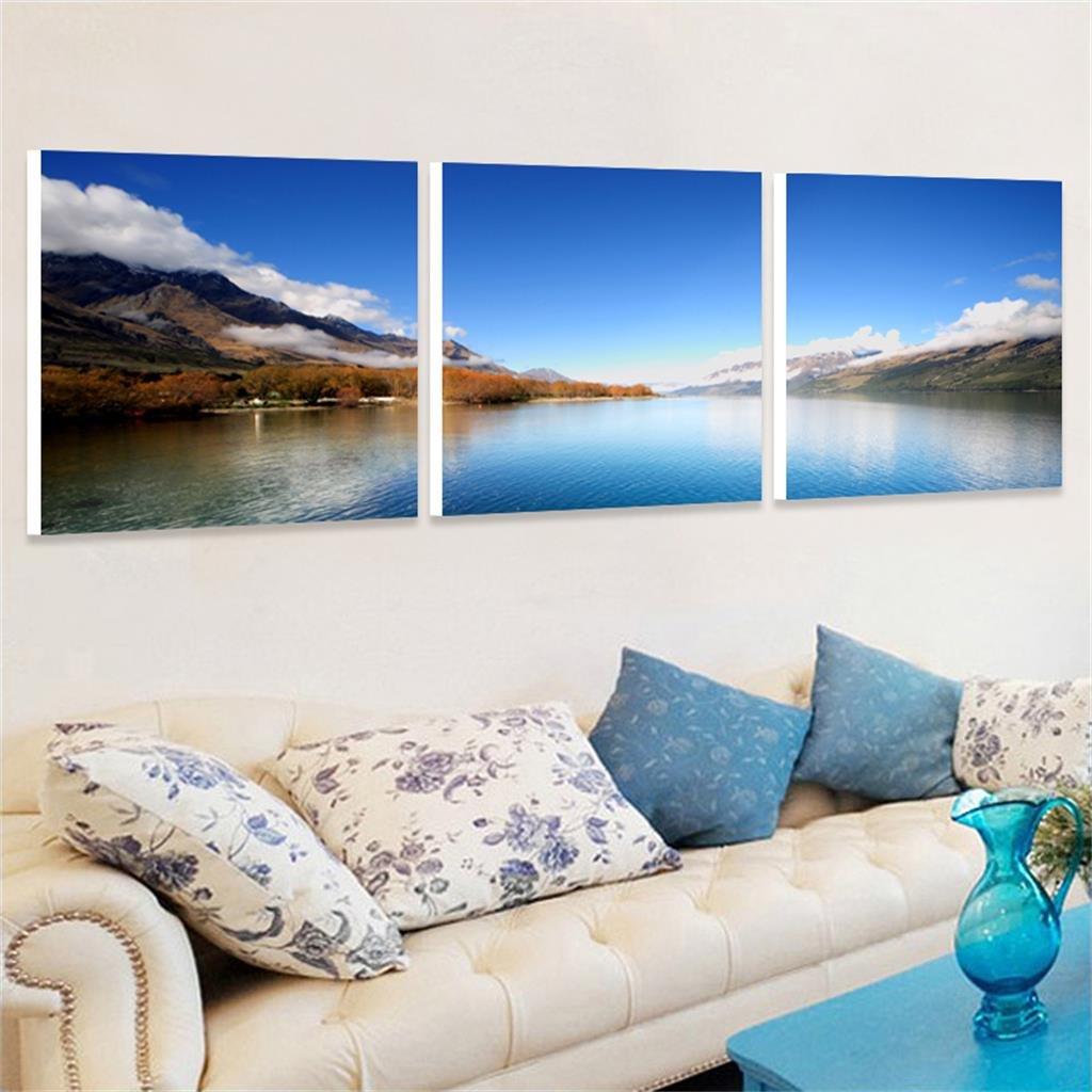 Sala de Estar Pintura Sanliana Sofá de Fondo Pintura Decorativa Paisaje Lago Pintura de Paisaje MEILING (Tamaño : A)