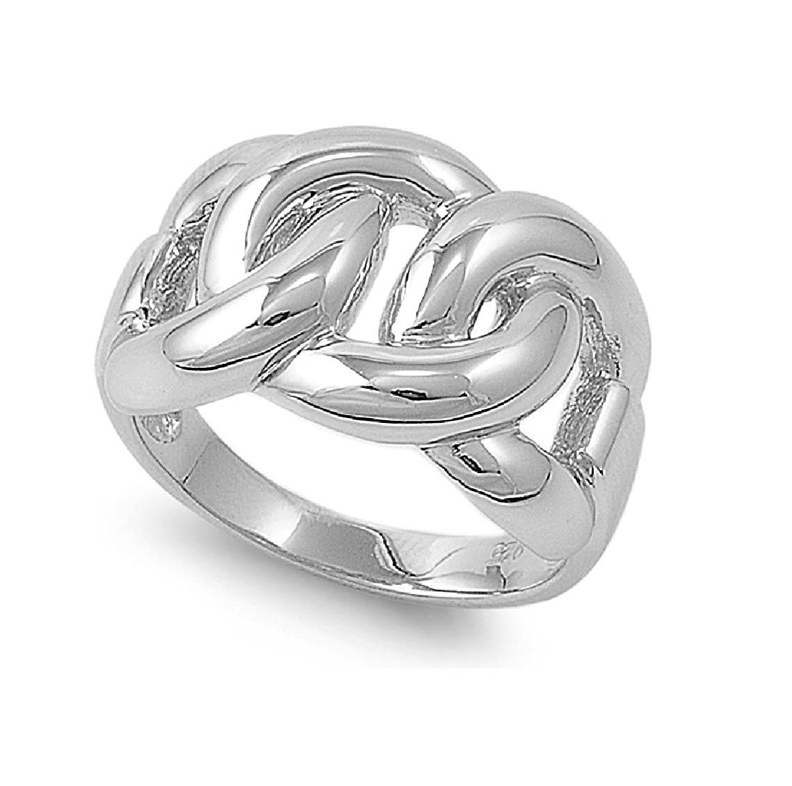 Princess Kylie 925 Sterling Silver Chain Link Style Design Ring