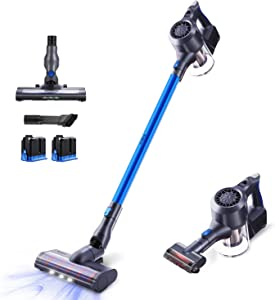 SIMPFREE Cordless Stick Vacuum Cleaner, 22KPa Powerful Suction Lightweight Handheld Cordless Vacuum with Digital Motor Up to 100 Minutes Runtime Duo Ion Battery (Charcoal Gray)