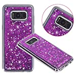 Galaxy S8 Case, VPR Sakura Liquid Quicksand Moving Stars Bling Glitter Floating Dynamic Flowing Love Heart Clear Soft TPU Protective Cover for Samsung Galaxy S8 18 Compatible Model: Samsung Galaxy S8. Material: High quality polycarbonate plastic and quicksand. The case is transparent with liquid inside,which is fashionable ,popular and interesting.