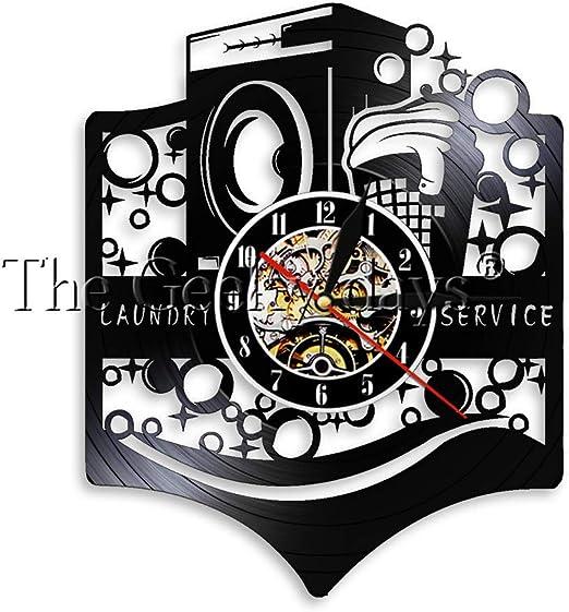 OLILEIO Logotipo de la Sala de lavandería Signo de Negocios Reloj ...