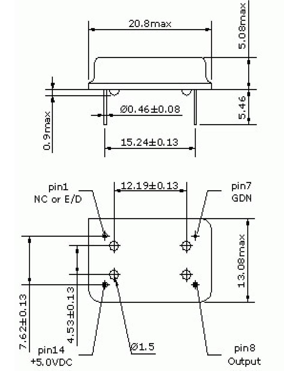 Full Can TTL 5v 100Mhz Oscillator