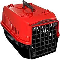 Caixa Transporte Mec Podyum 1, Vermelha Mecpet para Cães
