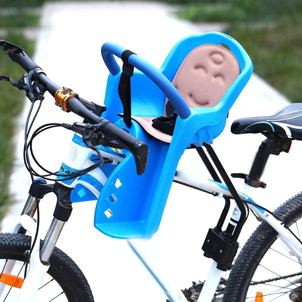 Asiento de seguridad para niños Asiento delantero para bicicleta de montaña Asiento de bebé completamente cerrado para bicicleta Capacidad de soporte de vehículo eléctrico hasta 50 kg,Blue,50X33CM: Amazon.es: Deportes y aire libre