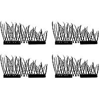 Kaczmarek 4 peças / 2 pares cílios postiços magnéticos 3D sem cola, feitos à mão, naturais, grossos, longos, cosméticos…