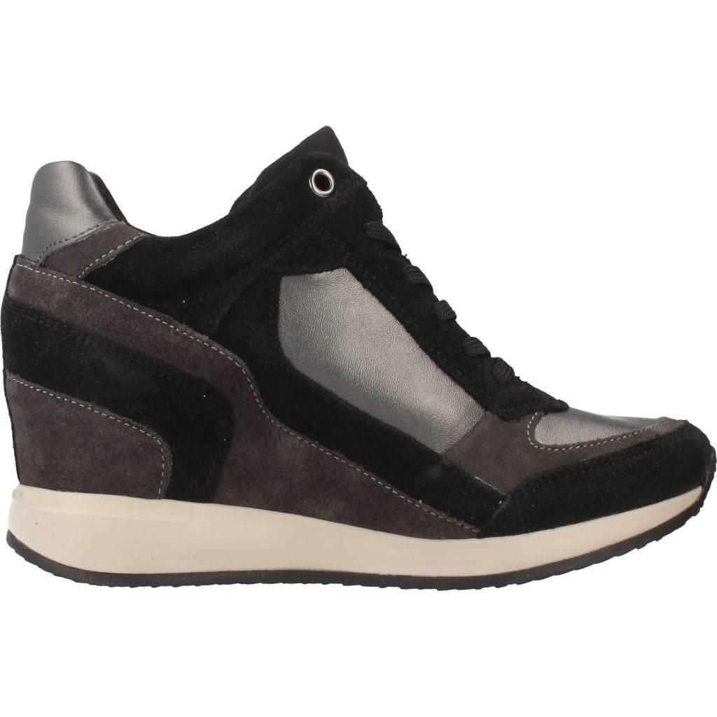 Geox NYDAME sneakers zeppa grigio scarpe donna D540QA