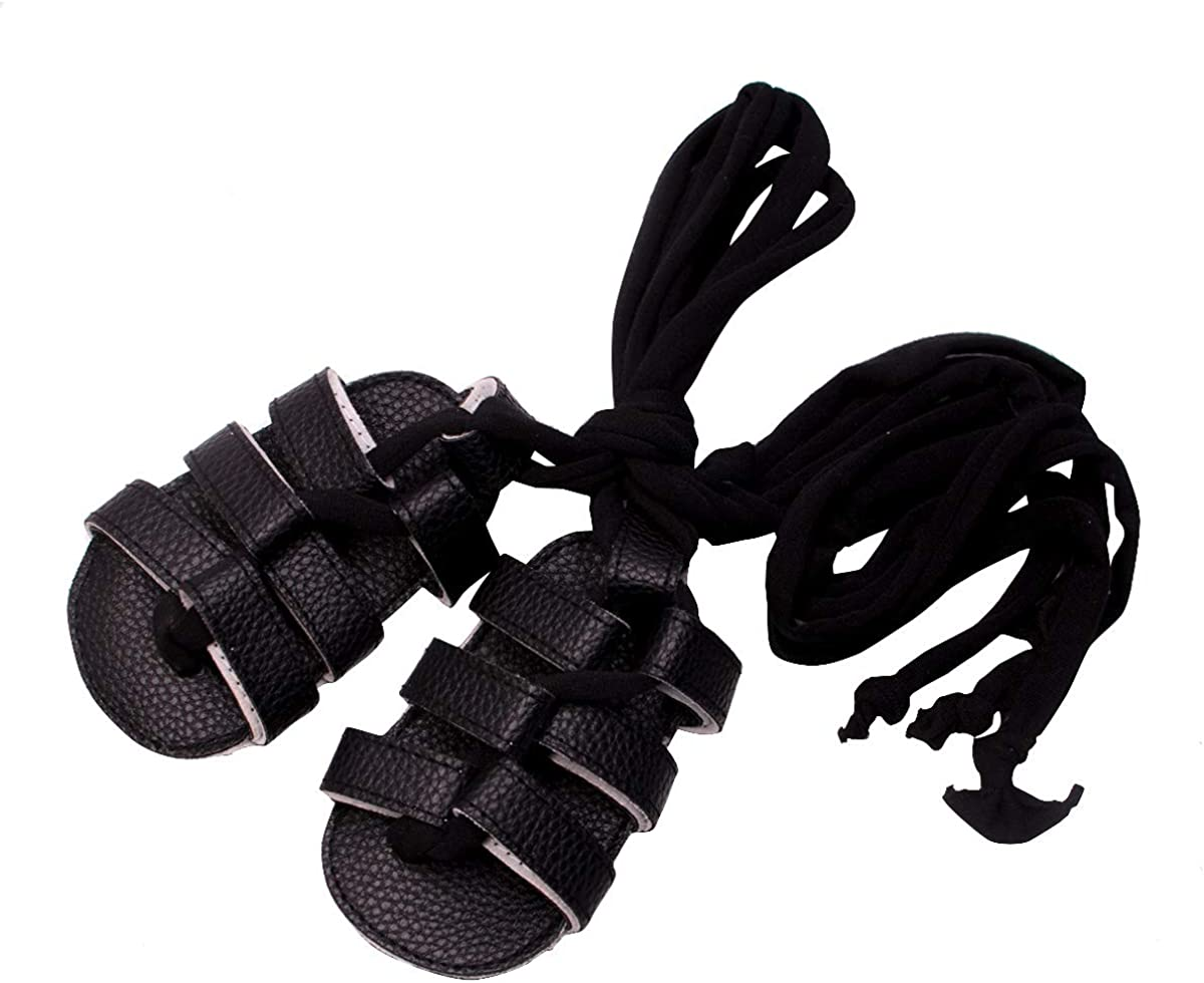 HONGTEYA Girl's Summer Baby Gladiator Sandals- Soft Soled Infant Toddlers Crib Shoes Baby Sandals