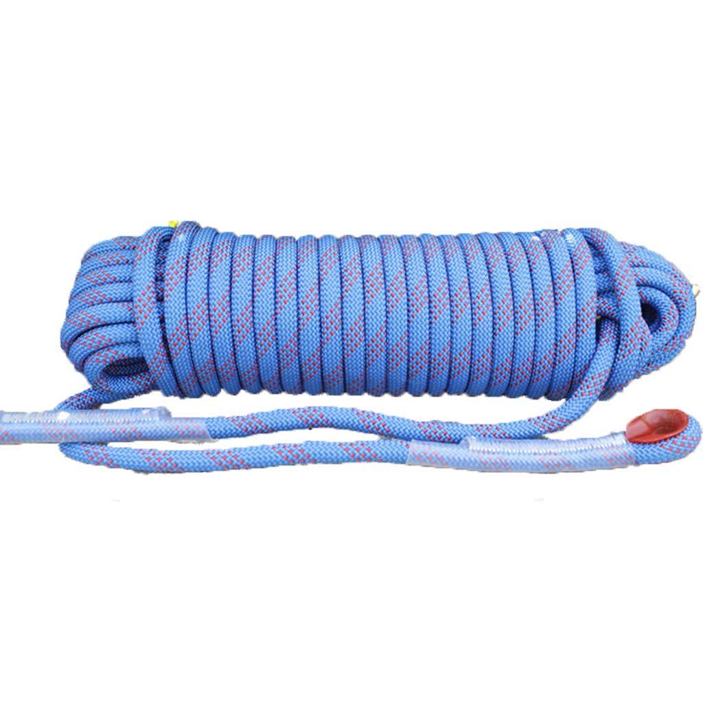 Bleu LINLIM Corde d'escalade 12mm 10m-50m Corde en Nylon Extensible Extensible pour Secours en Plein Air noir- 12mm 25m 12mm 30m