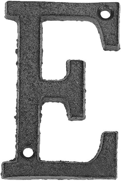 N/úmero de Casa moderna Etiqueta de Placa de Casa Letras de Metal Alfabeto Hierro Fundido Letrero de Casa Placa de Puerta DIY Cafe Decoraci/ón de Pared M