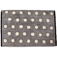 HipStyle Mika Tufted Textured Cotton Bath Mat, Casual Polka Dots Bathroom Rugs, 20X30, Grey