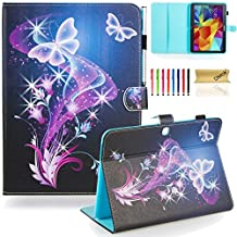 Galaxy Tab 4 10.1 Case,T530 Case,Dteck(TM) Slim Folio Stand Case with Cards Slots [Auto Wake/Sleep Feature] Magnetic Smart Shell Cover for Samsung Galaxy Tab 4 10.1 SM-T530NU T530,Twinkle Butterfly