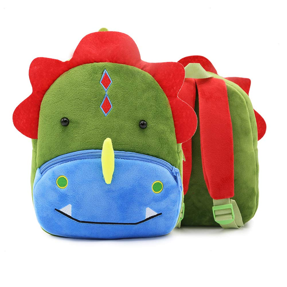 Kids Boy Girls Toddler Cartoon Dinosaur Plush Bag Cute Rucksack Backpack Nursery
