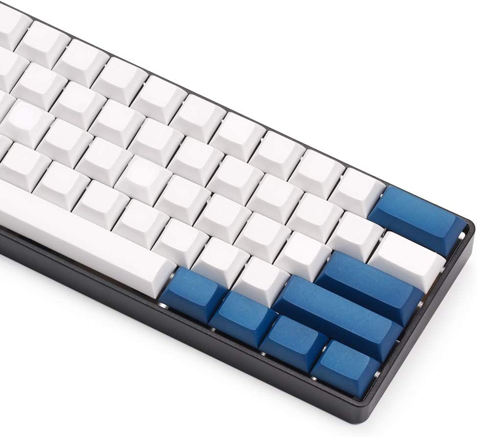 SSSLG Mechanical Keyboard keycap 60/% Compatible with Mechanical Keyboard,Gray no Letters DSA Height keycap pbt Material