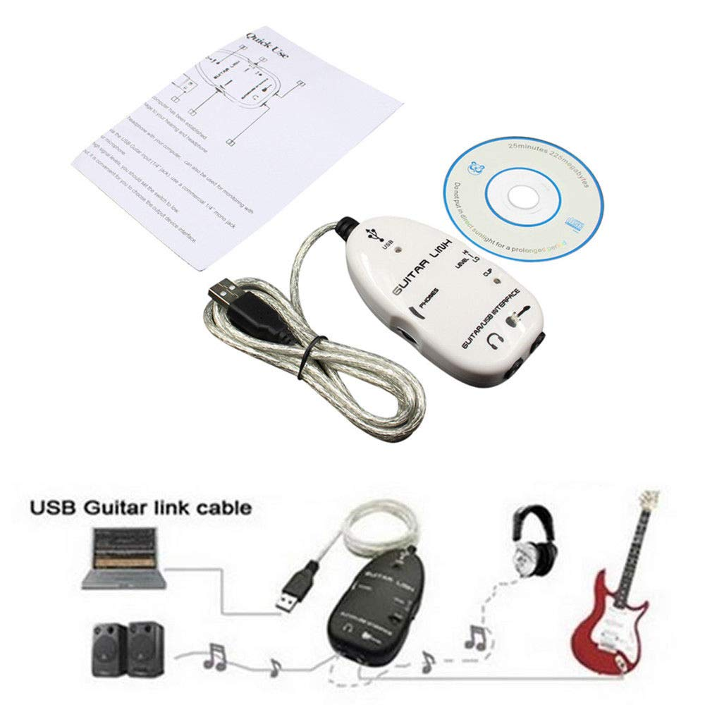 FidgetGear - Cable adaptador de guitarra eléctrica a USB para PC ...