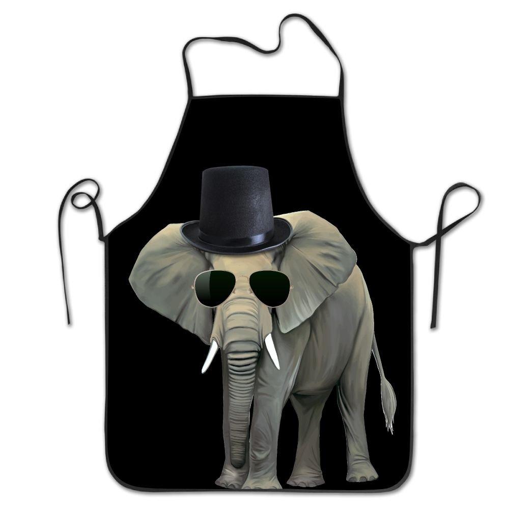 Cool Elephant withサングラス料理エプロンキッチンエプロンよだれかけエプロンChiefエプロンホームEasy Care forメンズレディース   B0762Q1ZS7
