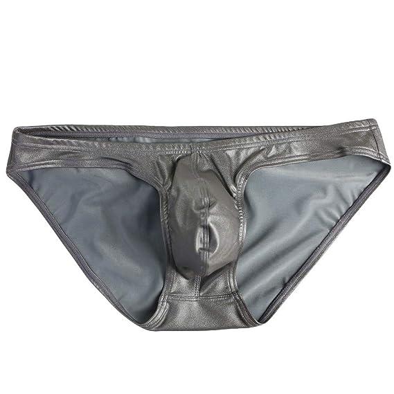 cab00ec5a71a Cebbay Tanga de los Hombres Ropa Interior elástica cómoda de Charol Bikini  Liquidación(Gris,. Pasa el ratón por encima de la imagen para ampliarla