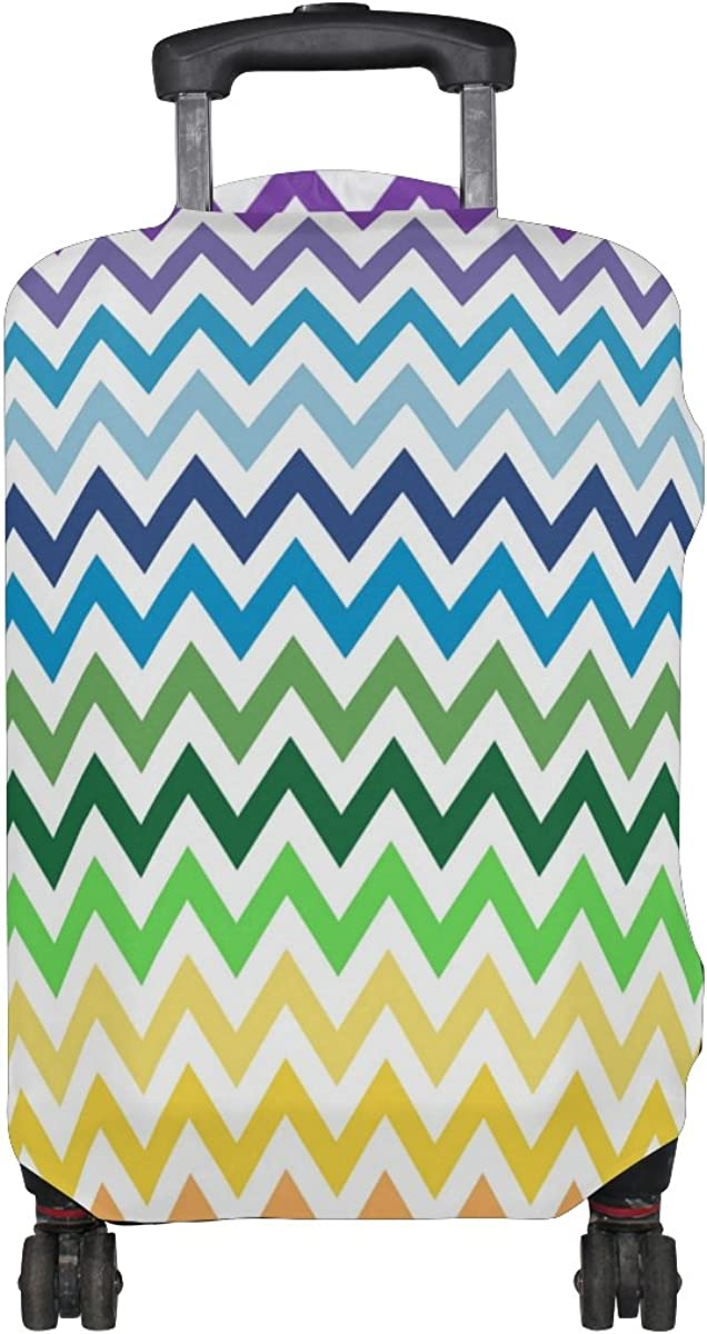 LAVOVO Rainbow Chevron Luggage Cover Suitcase Protector Carry On Covers