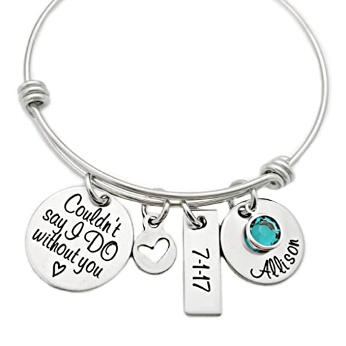 amazon bridesmaid gift couldn t say i do without you bangle Gift of Gab Meaning image unavailable