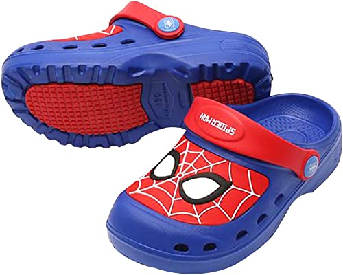 Toddlers Spider-Man Sandals Clogs-Lightweight Kids Garden Shoes-Comfortable Sandals Clogs for Kids