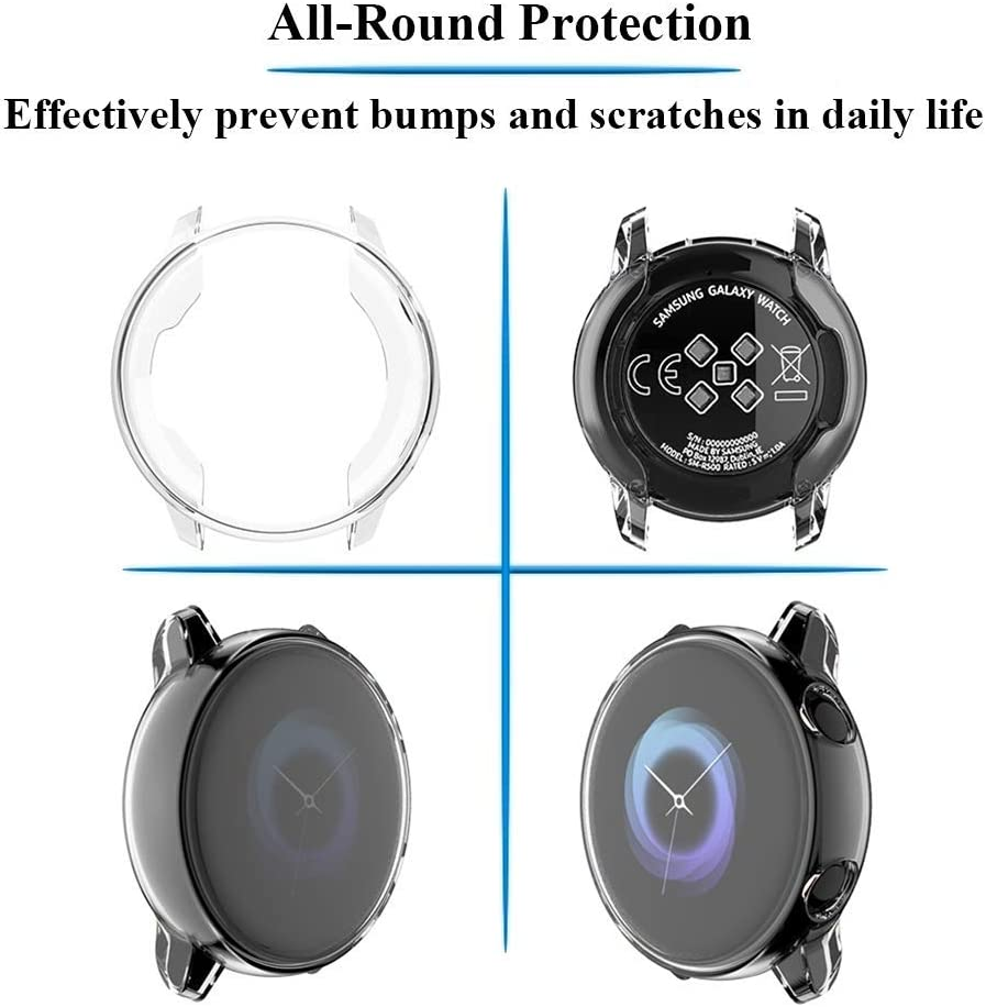 Funda para Galaxy Watch Active de 40 mm .Transparente(2U)