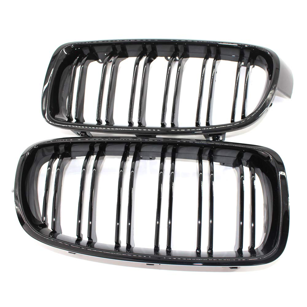 Glossy Black Front Grill Grilles Kidney Grille Replacement For BMW 3 Series F30 F31