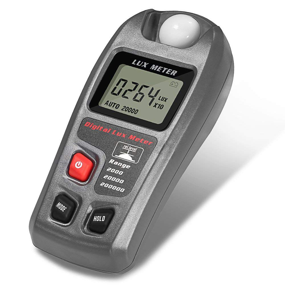 Light Meter, Digital Luxmeter Illuminance Meter Handheld Actionometer Foot Candle Meter High Accurac