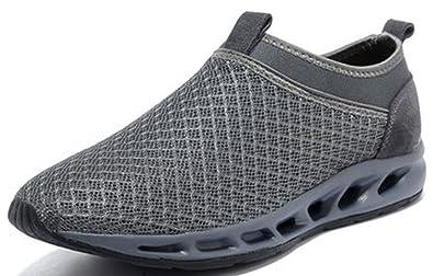 b95d66d664e5 Three s Mens Summer Mesh Breathable Water Shoes Slip On Net Slip On Sneakers  (6
