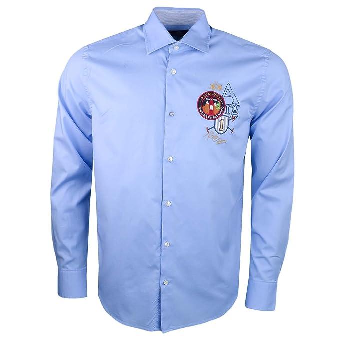 La Martina - Camisa Casual - Chaqueta - para Hombre Azul XL: Amazon.es: Ropa y accesorios